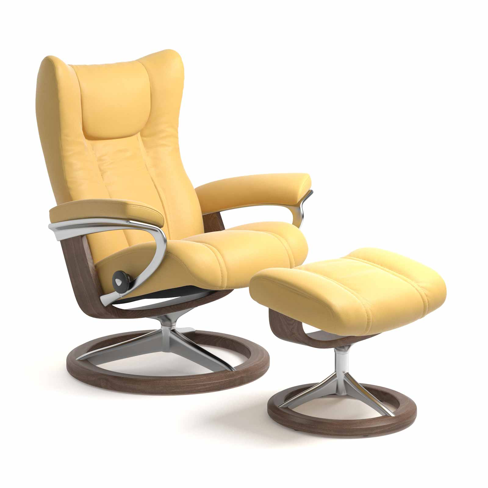Stressless Wing Signature Sessel Stressless Sessel Wing Signature Batick Mimosa Mit Hocker