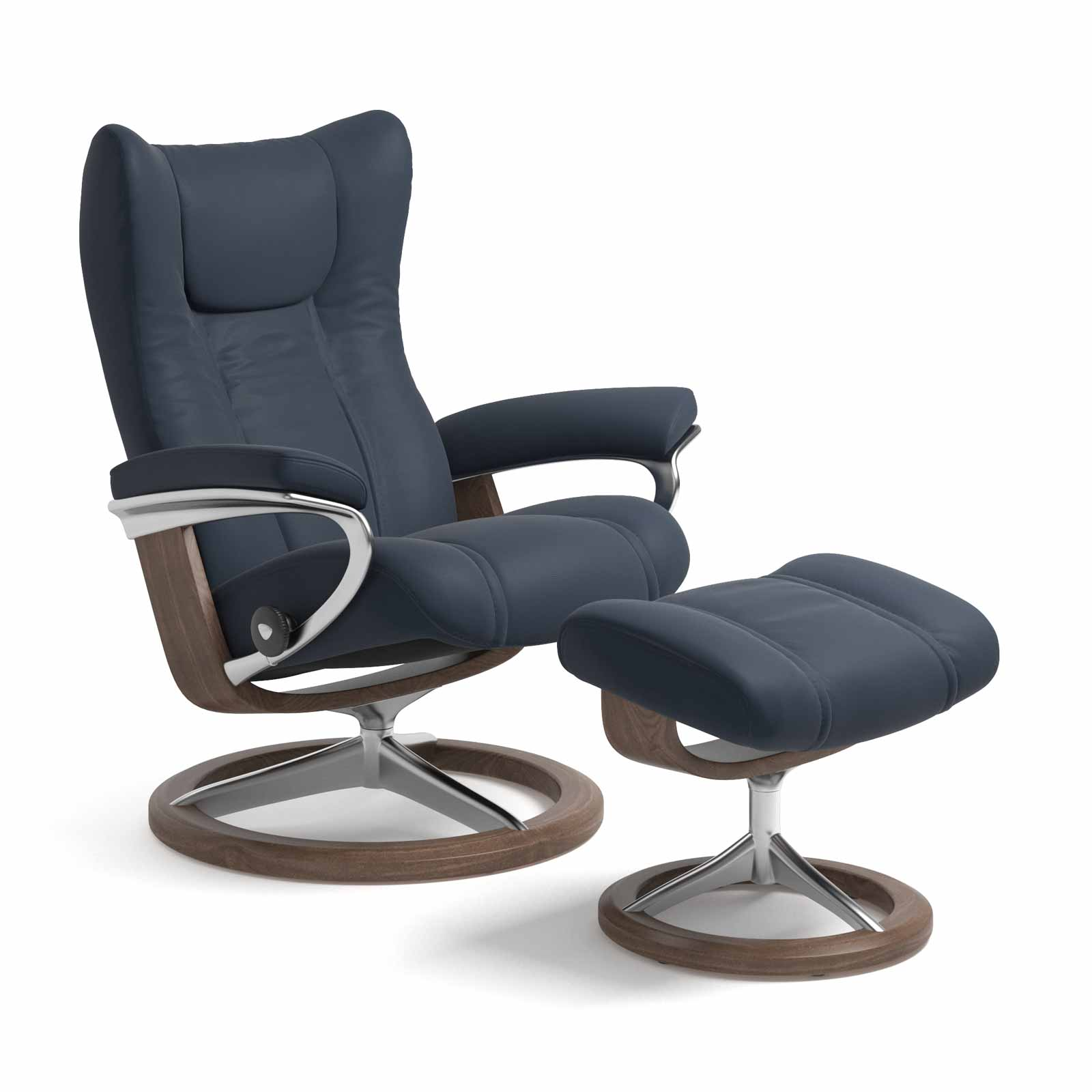 Stressless Sessel Wing Stressless Sessel Wing Signature Leder Paloma Oxford Blue Mit Hocker