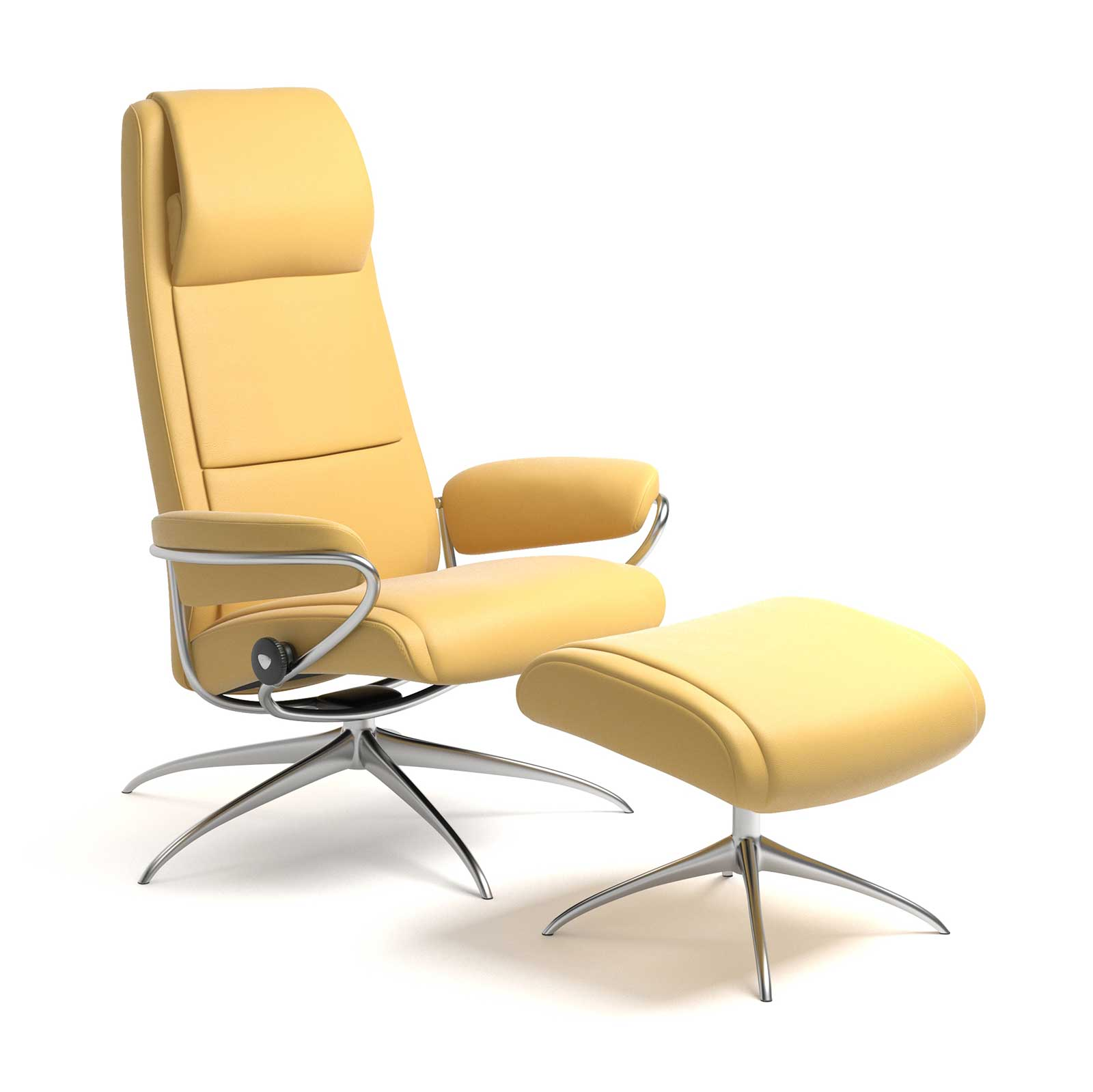 Stressless Sessel Paris High Back Stressless Paris Relaxsessel Batick Mimosa Mit Hoher Lehne