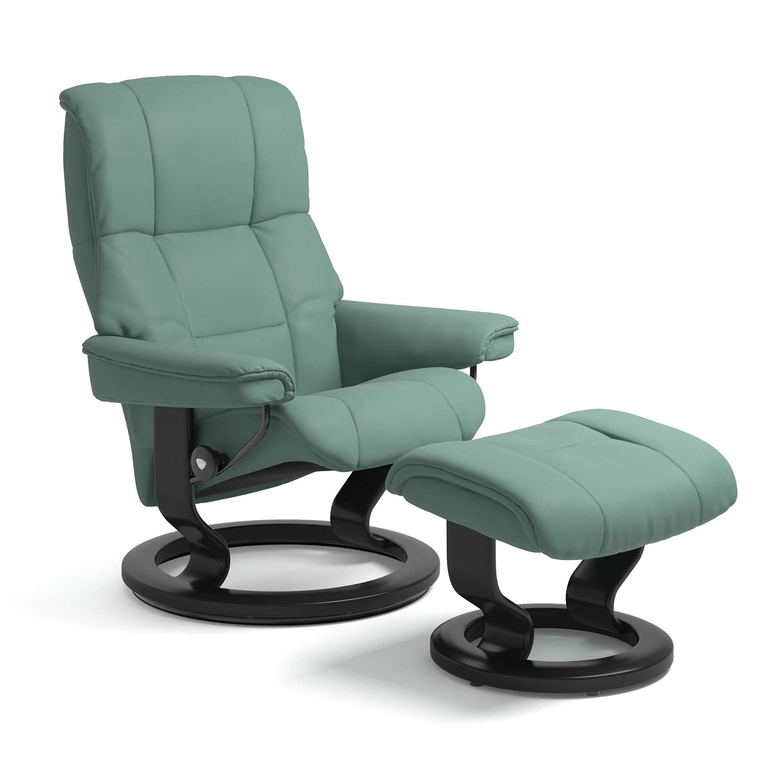 Sessel Aqua Stressless Mayfair Classic Paloma Aqua Green Mit Hocker
