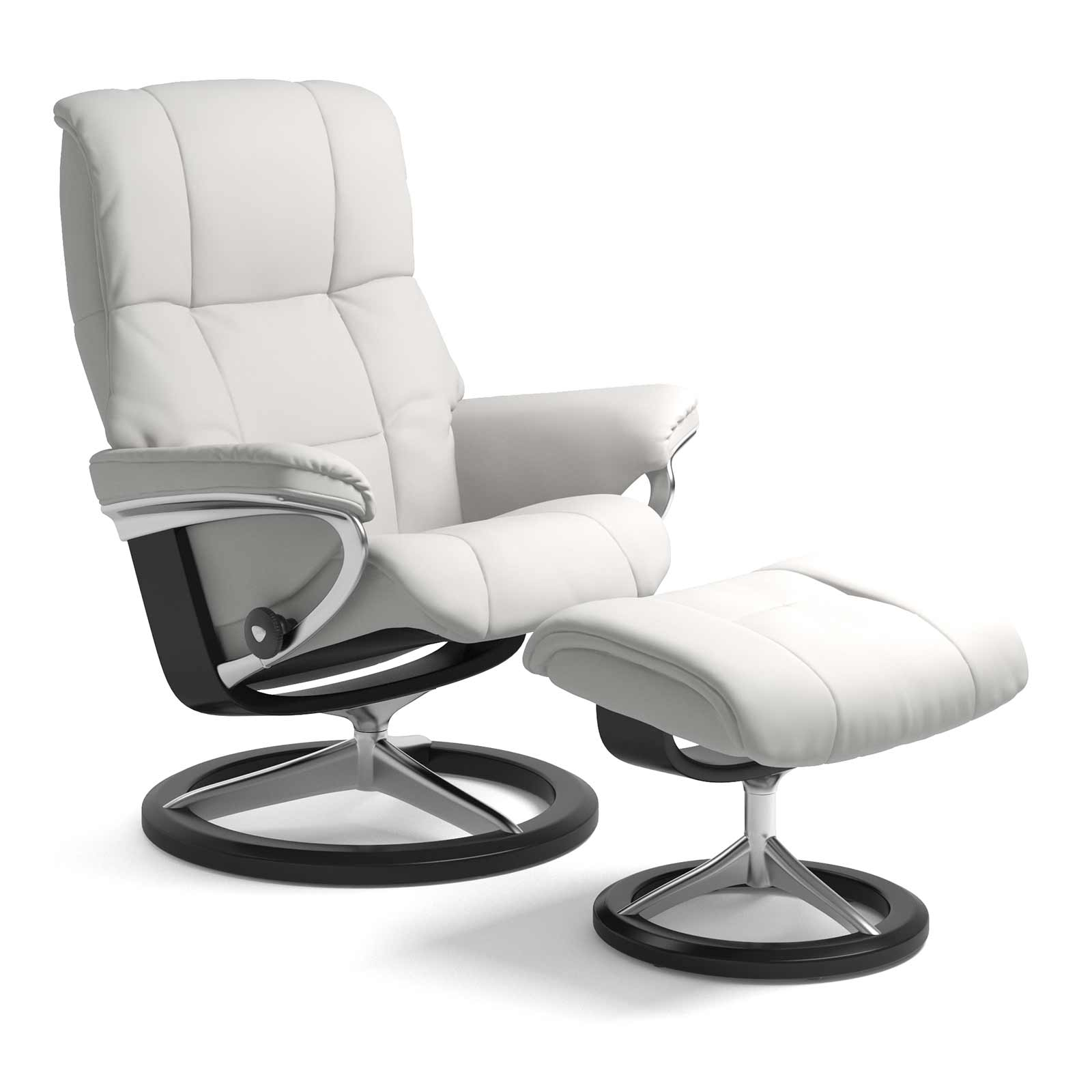 Stressless Wing Signature Sessel Stressless Sessel Mayfair Signature Batick Snow Mit Hocker
