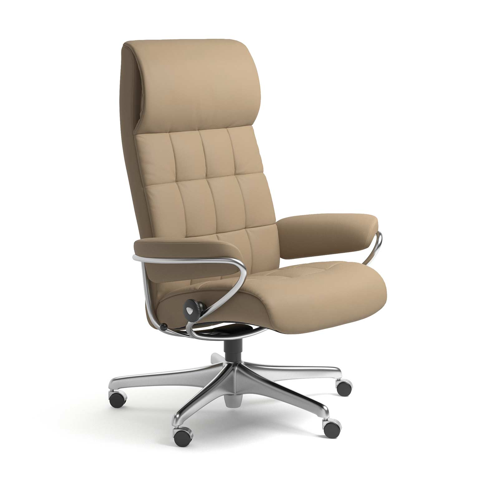 Stressless Sessel London Home Office Hohe Lehne Leder Paloma Funghi