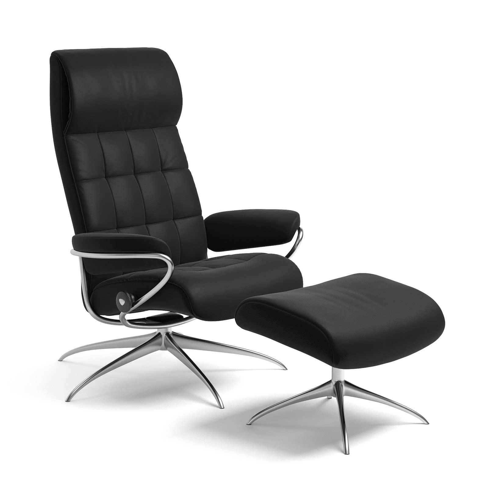 Stressless Sessel Ohne Hocker Stressless London Sessel Mit Hoher Lehne Lederfarbe Schwarz