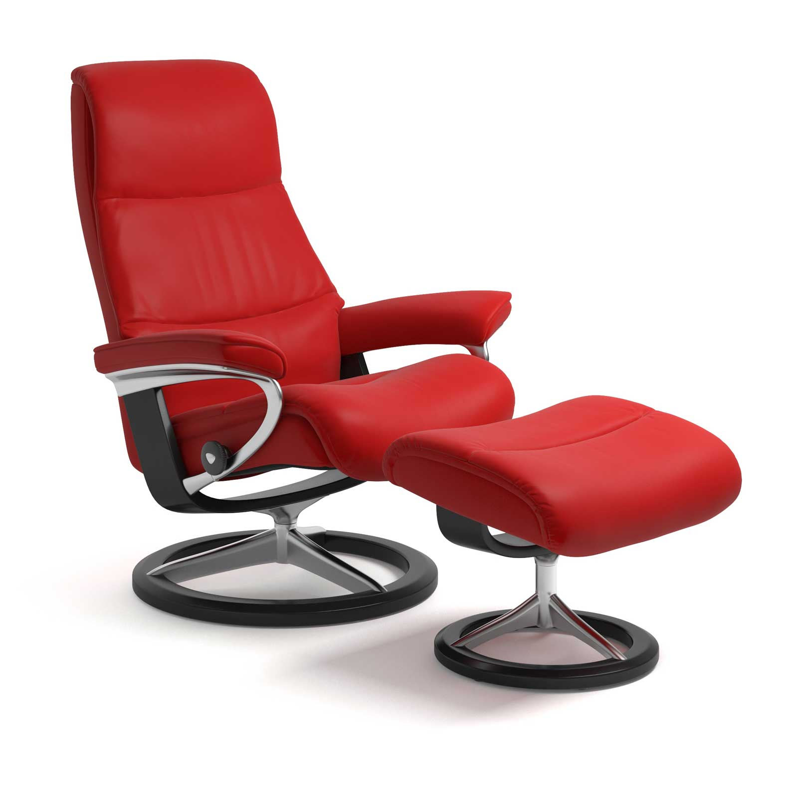 Stressless Magic Signature Sessel Stressless Sessel View Signature Batick Chilli Red Mit Hocker