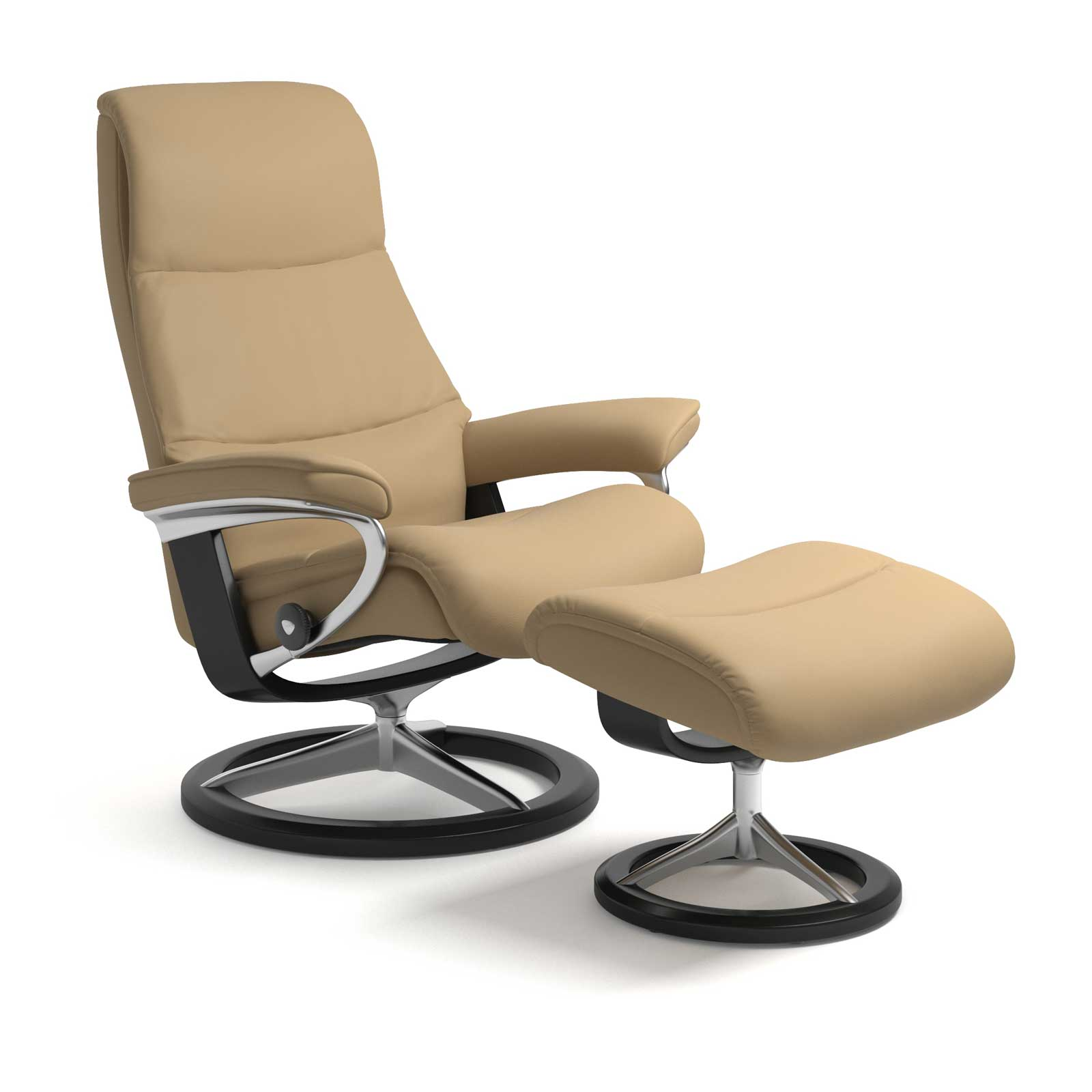Sessel Sand Stressless Sessel View Signature Paloma Sand Mit Hocker