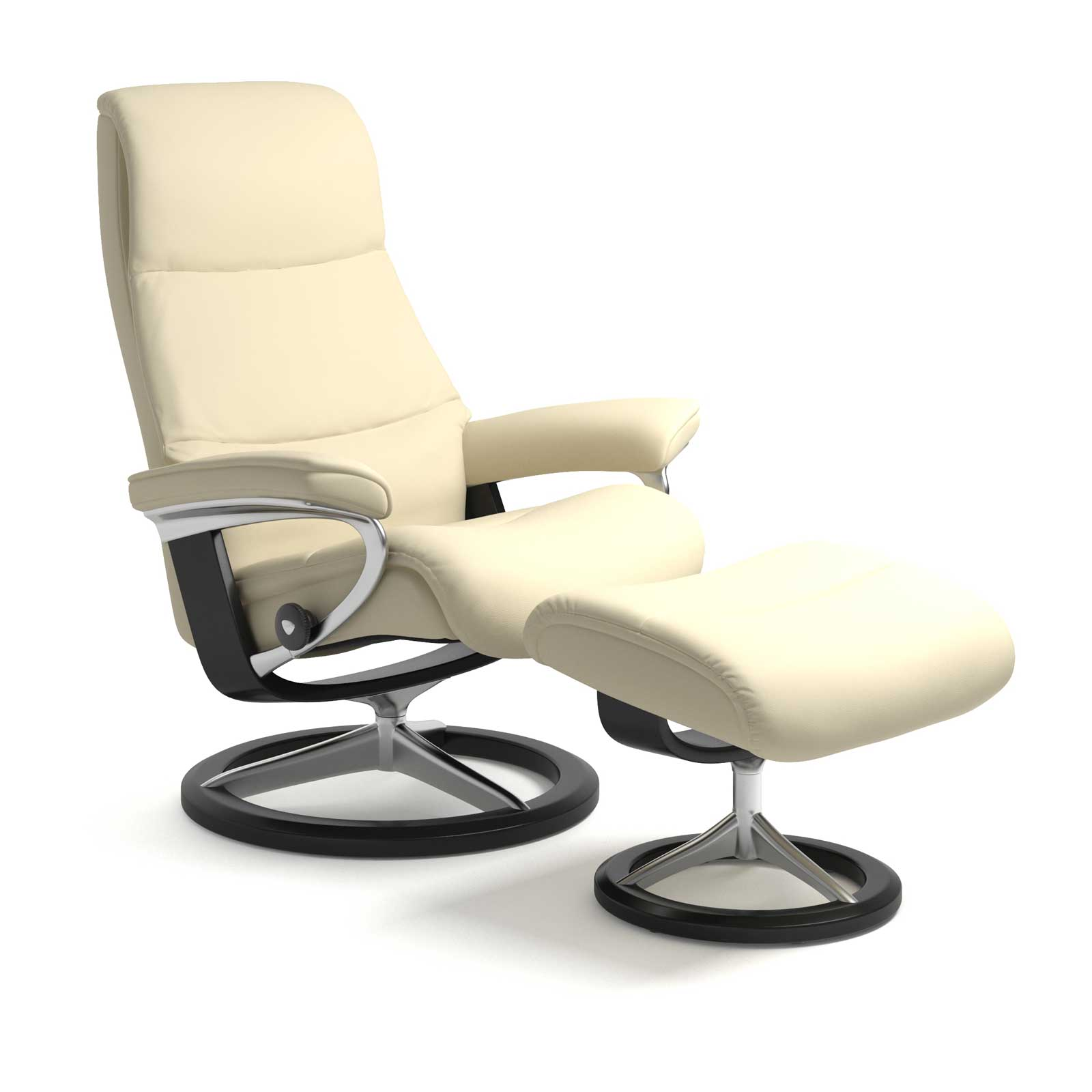 Stressless Wing Signature Sessel Stressless Sessel View Signature Paloma Vanilla Mit Hocker