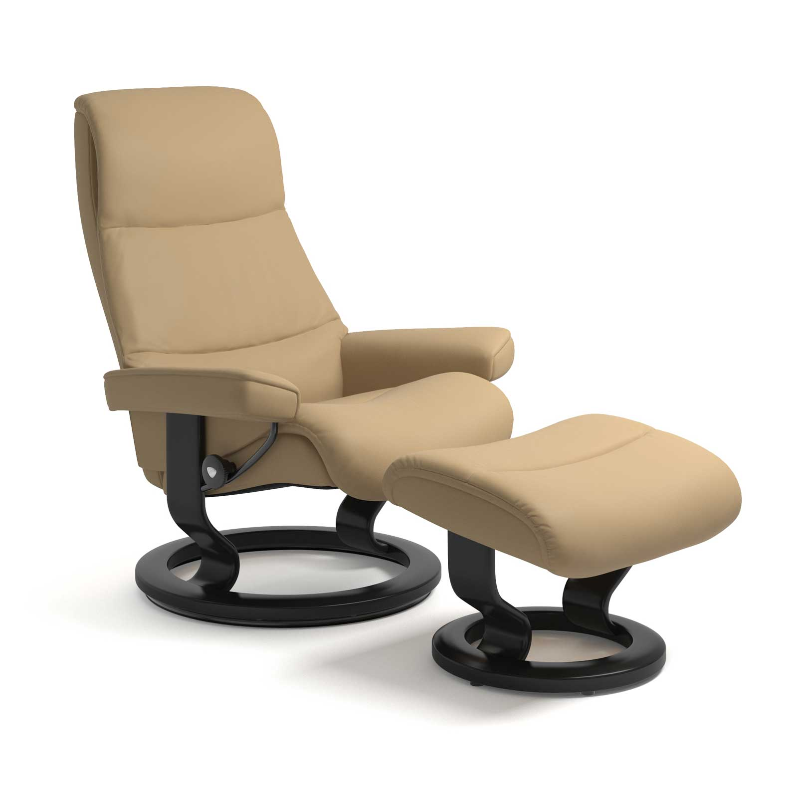 Sessel Sand Stressless View Classic Paloma Sand Mit Hocker Stressless