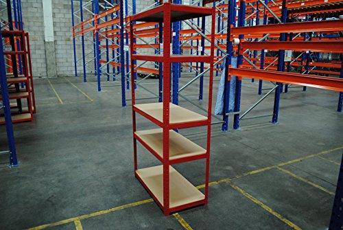 180cm X 90cm X 45cm Red 5 Tier 265kg Per Shelf Heavy Duty