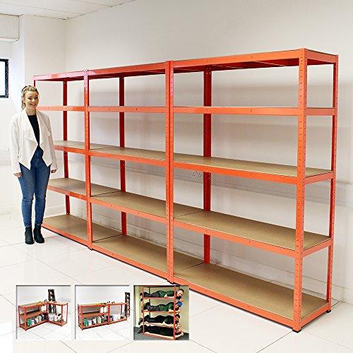 Elephantr 120cm Extra Wide Heavy Duty 5 Tier Shelf