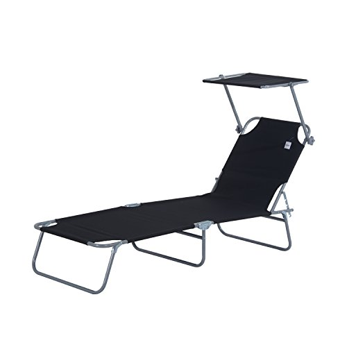 Gartenliege Holz Klappbar Outsunny Reclining Chair Folding Lounger Seat With Sun