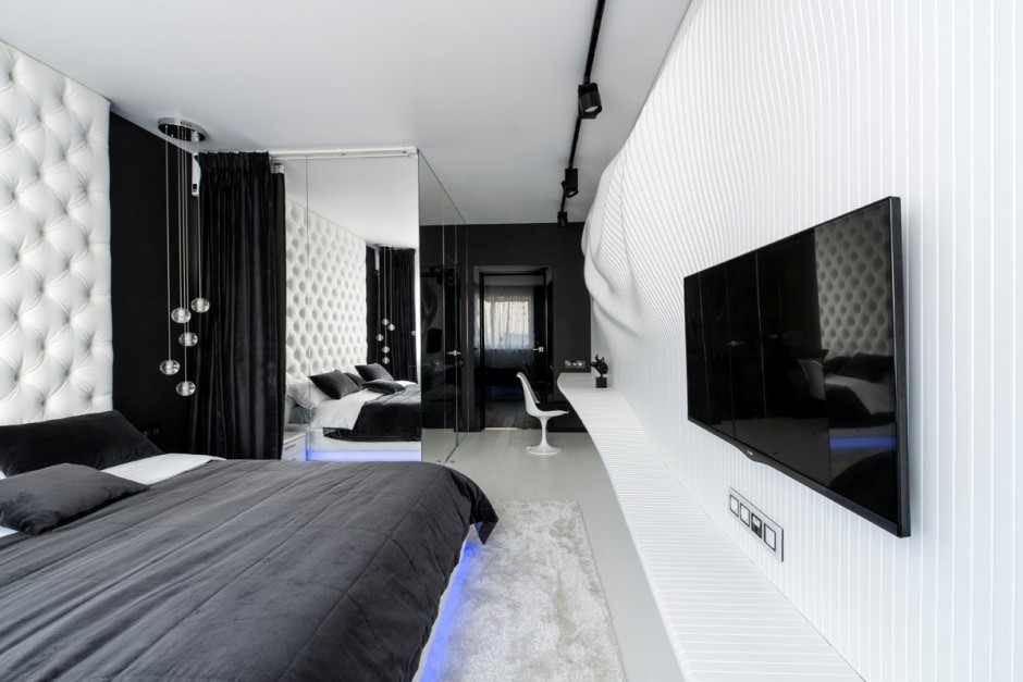 Moderne Slaapkamer Wit Amazing Black And White Bedroom Accent For Incredible
