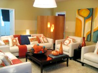 Cozy Living Room Decoration with Colorful Furniture ...