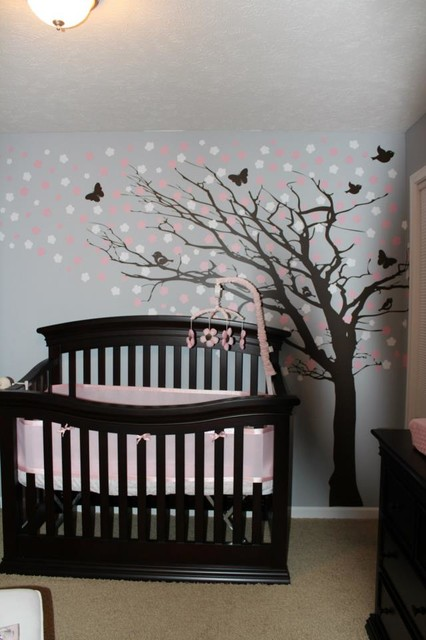 Wallpaper Ideas For Baby Girl Nursery Lovely Nursery Decor Ideas With Secured Bedroom Appliances