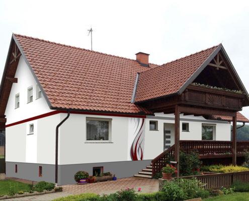 Fassadengestaltung Design und Farbe mit Vorabvisualisierung - fassadenfarbe beispiele