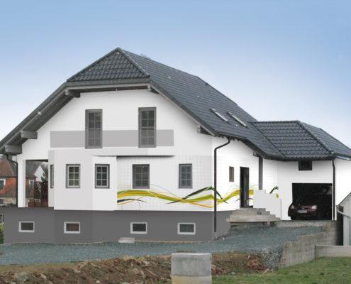 Fassadengestaltung Design und Farbe mit Vorabvisualisierung - fassadenfarbe haus