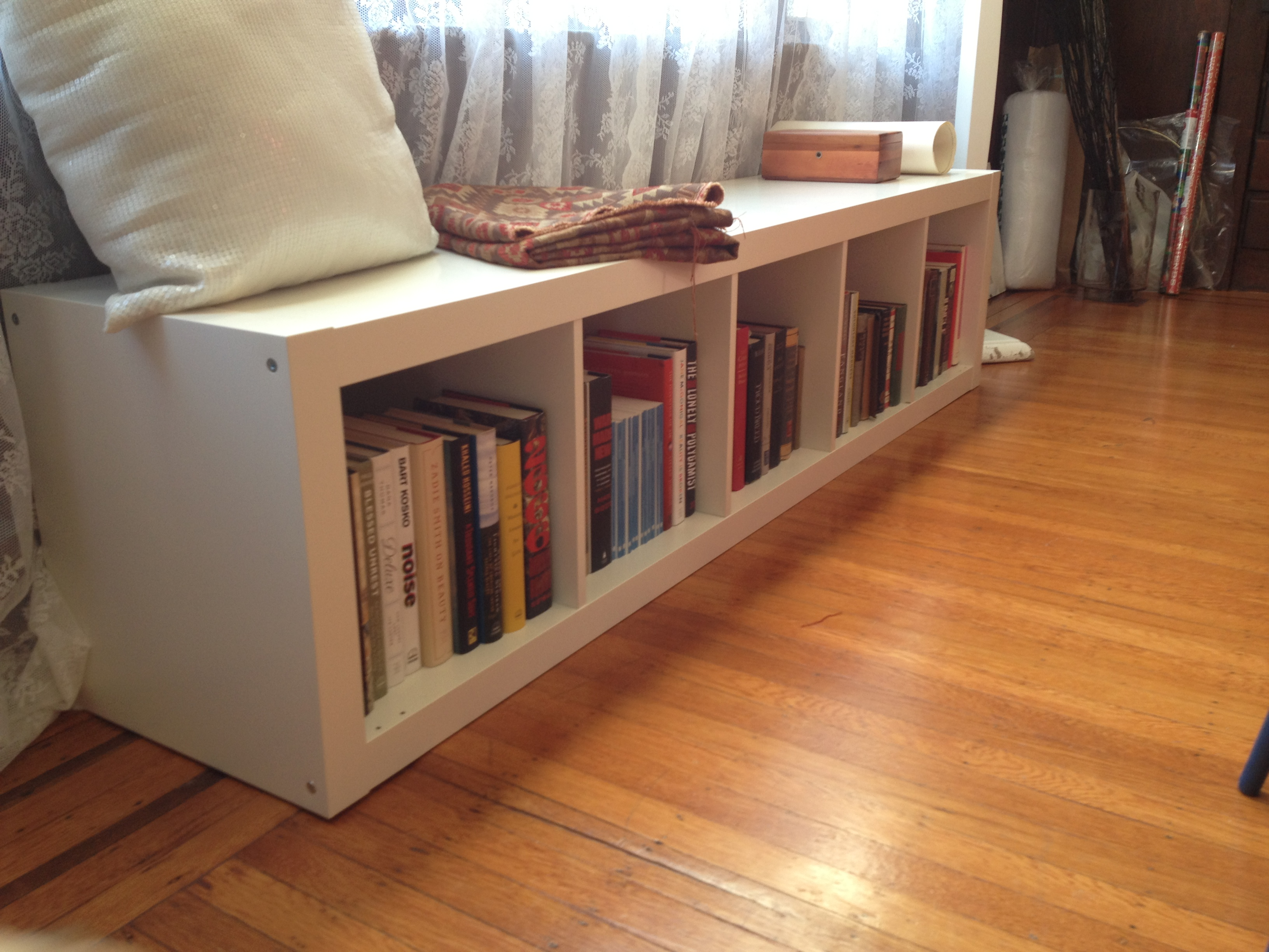 have you created an ikea expedit bench hack share them with us in the