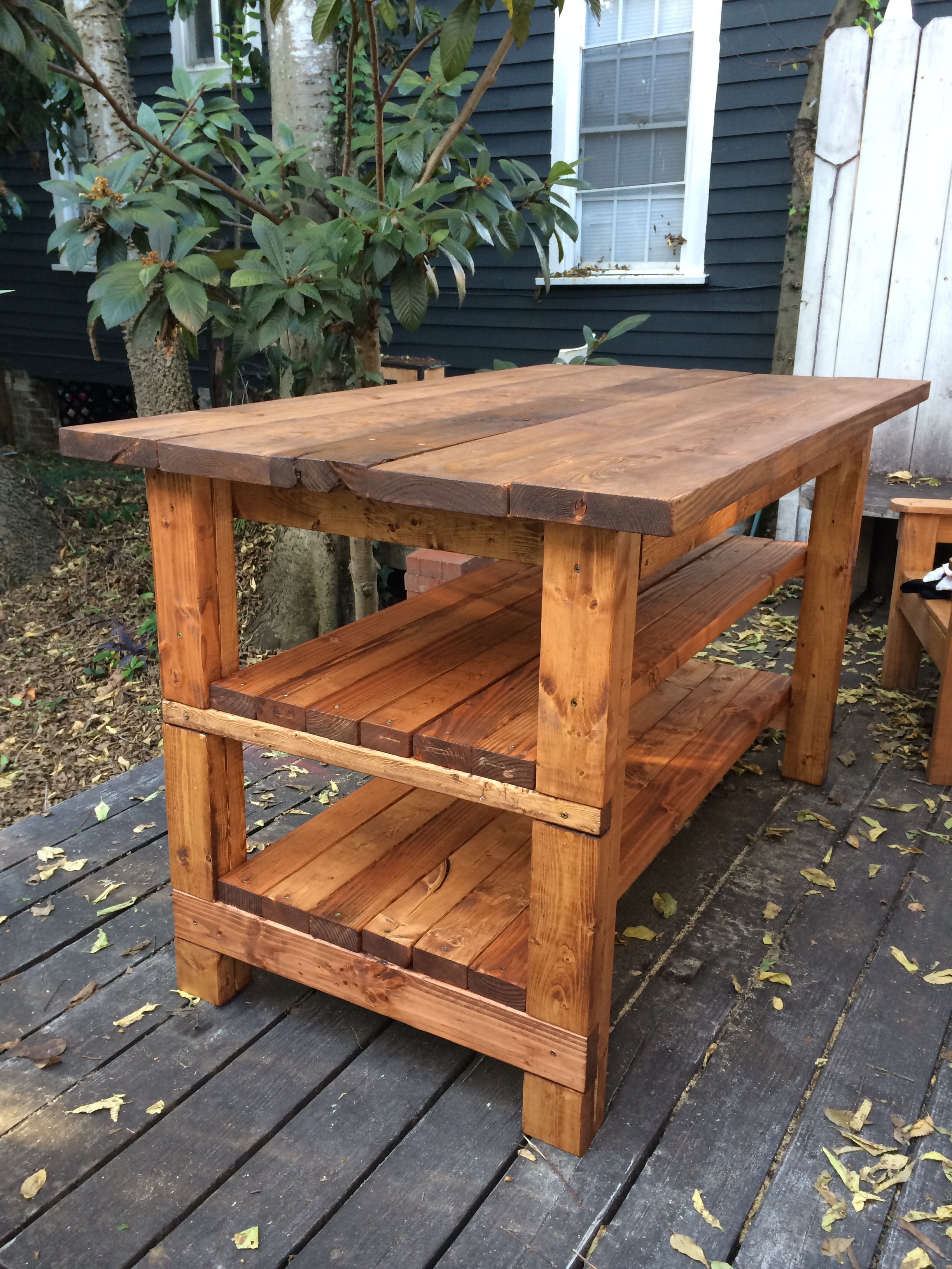 Wood Kitchen Island Plans Hand Built Rustic Kitchen Island House Food Baby