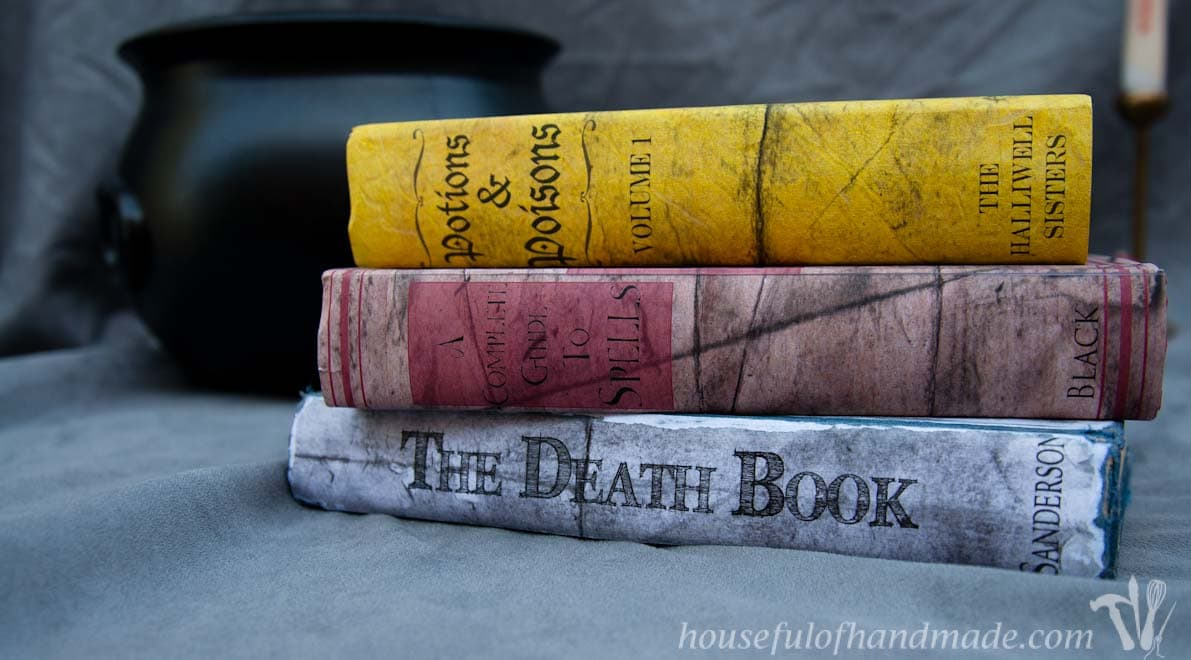 Printable Halloween Spell  Potions Book Covers - Houseful of Handmade