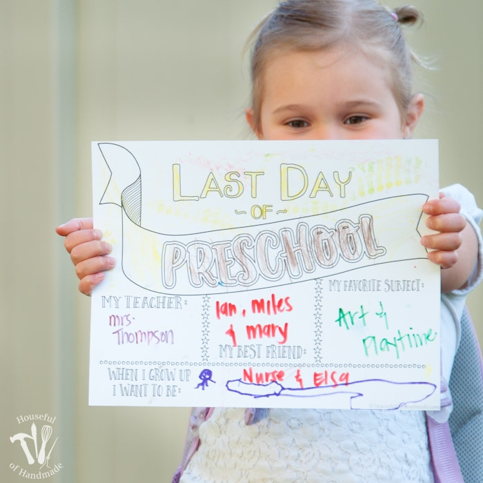 Last Day of School Coloring Page Printables - Houseful of Handmade