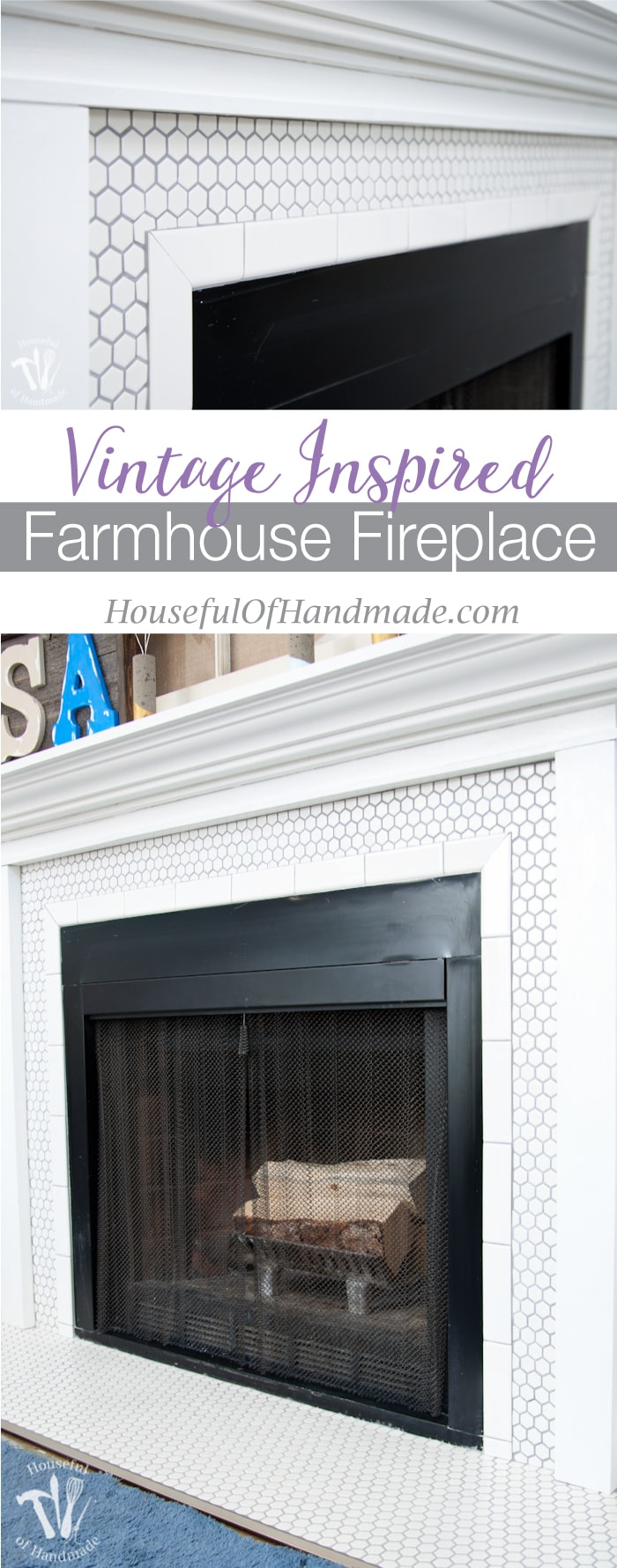 Vintage Inspired Farmhouse Fireplace Reveal Houseful Of Handmade