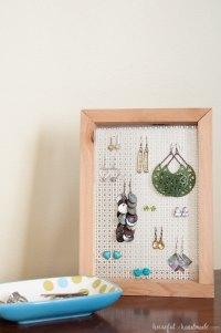 Easy DIY Earring Stand - a Houseful of Handmade