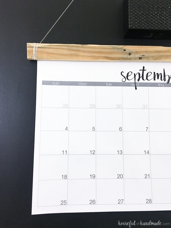 Printable Giant Wall Calendar {Aug 2018 to Dec 2019} - Houseful of