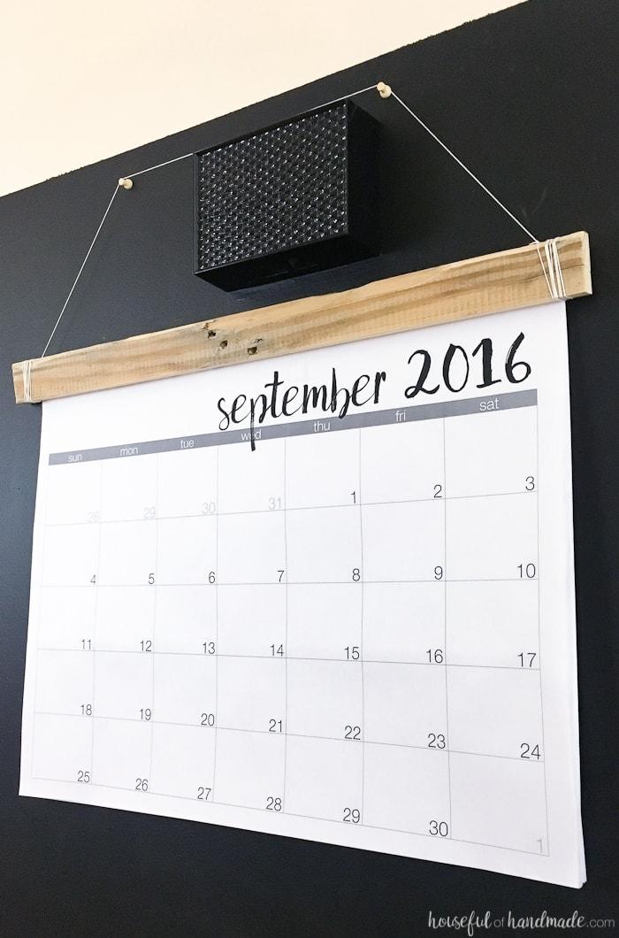 DIY Giant Rustic Wall Calendar with Printable - a Houseful of Handmade