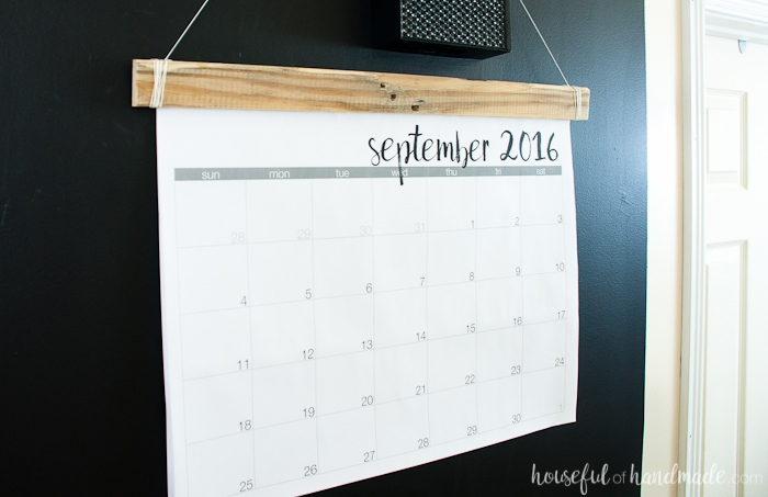DIY Giant Rustic Wall Calendar with Printable - Houseful of Handmade