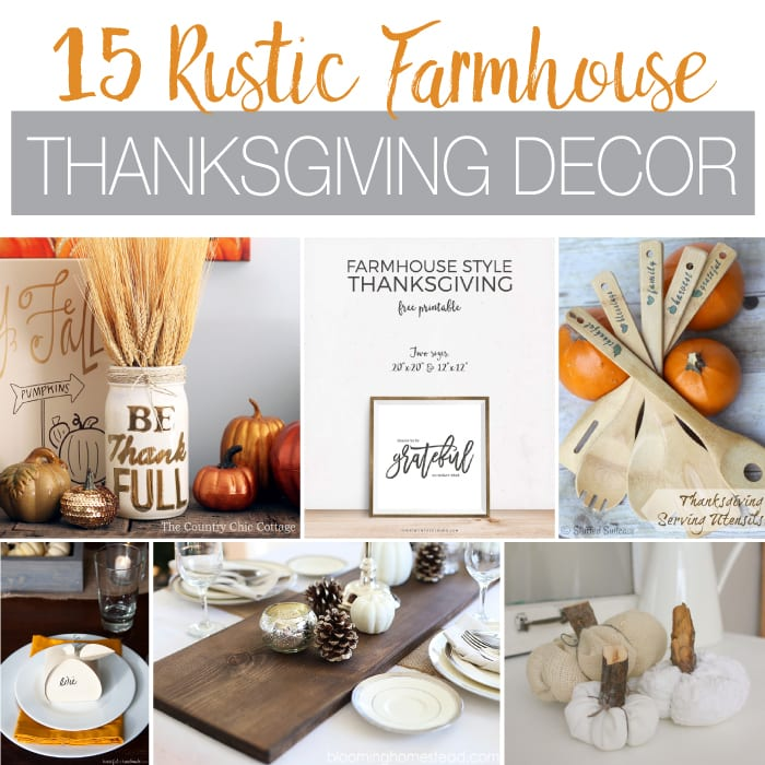 15 Rustic Farmhouse Thanksgiving Decor Ideas - Page 2 of 4