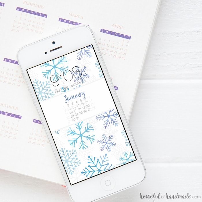 Free Digital Backgrounds for January - Houseful of Handmade