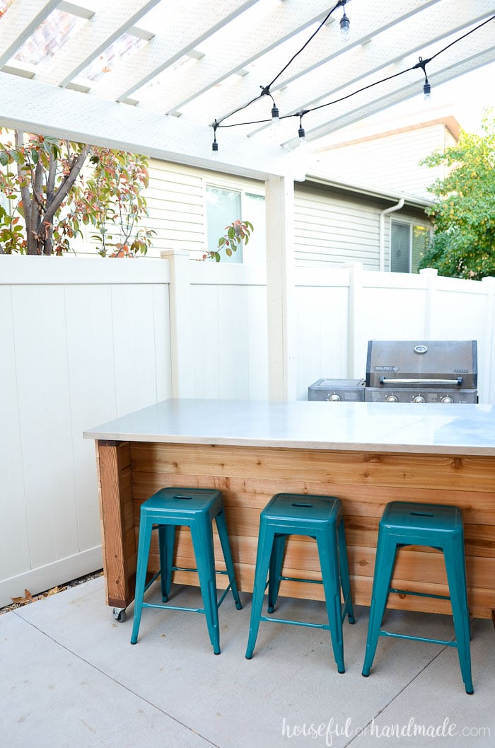 Portable Kitchen Island Plans Outdoor Kitchen Island Build Plans - Houseful Of Handmade