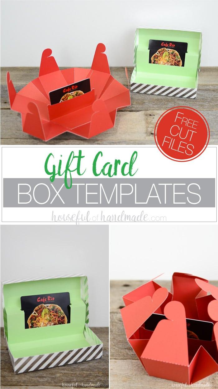 Gift Card Box Templates A Houseful Of Handmade