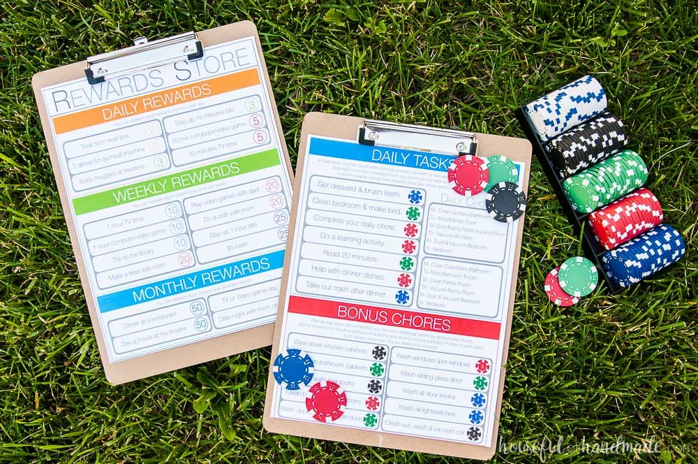 Printable Kids Chore System that Works! - Houseful of Handmade