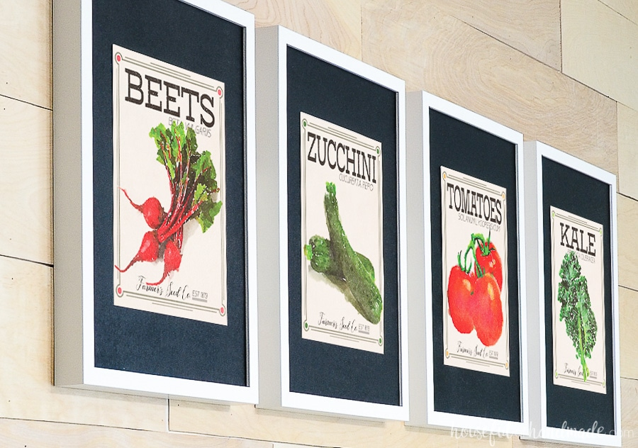 Vegetable Seed Packet Art - Houseful of Handmade