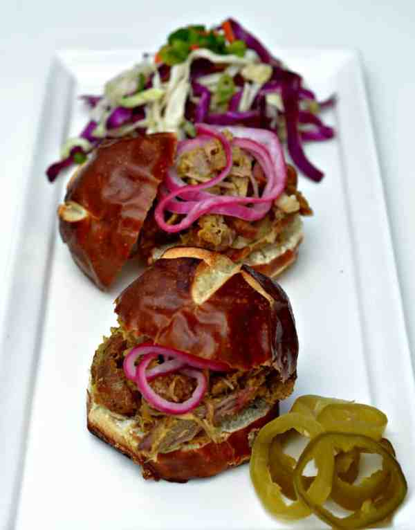 Carolina Pulled Pork Sandwiches with Vinegar Based Slaw | Houseful Of ...