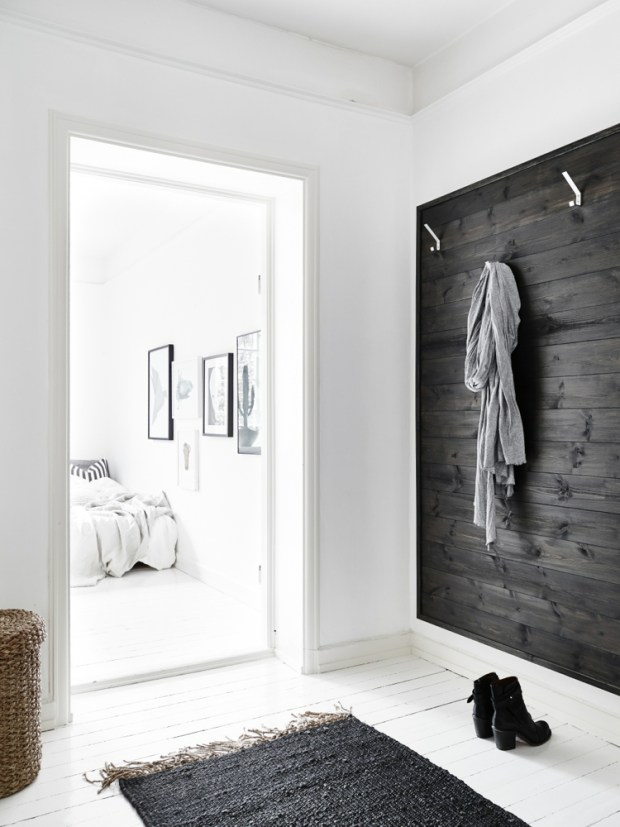 entry-with-black-stained-wooden-wall