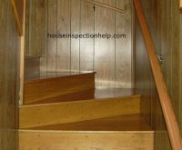 Slippery Wood Winder Staircase