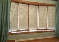 How To Design Beautiful Roller Shades with Wallpaper