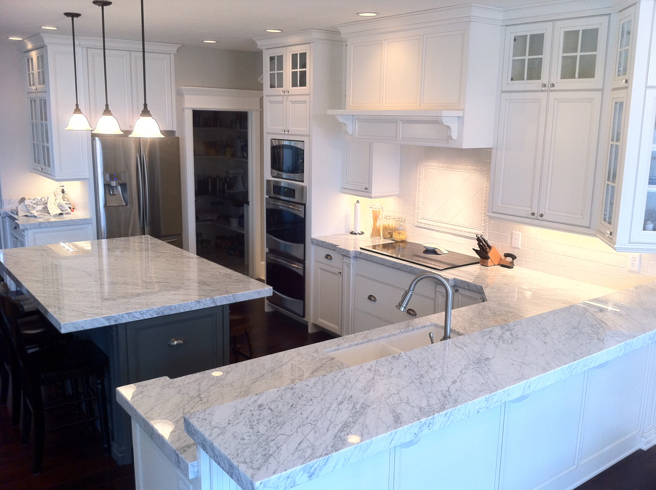 White Carrera Marble Kitchen Countertops White Kitchen Pictures Houselogic Kitchen Remodel Pictures