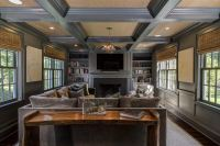 10 Beautiful Living Rooms with Coffered Ceilings