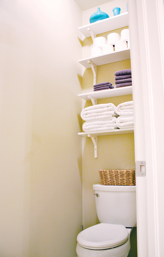 In Wall Toilet Paper Storage Shelves | House Mix