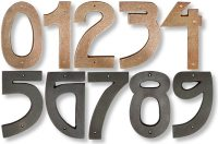Grendl arts and crafts style cast bronze house numbers