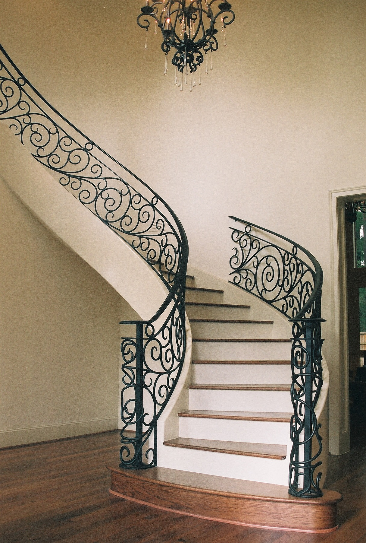 Wrought Iron Staircase Designs Staircases On Pinterest Railings Stair Railing And Stairs