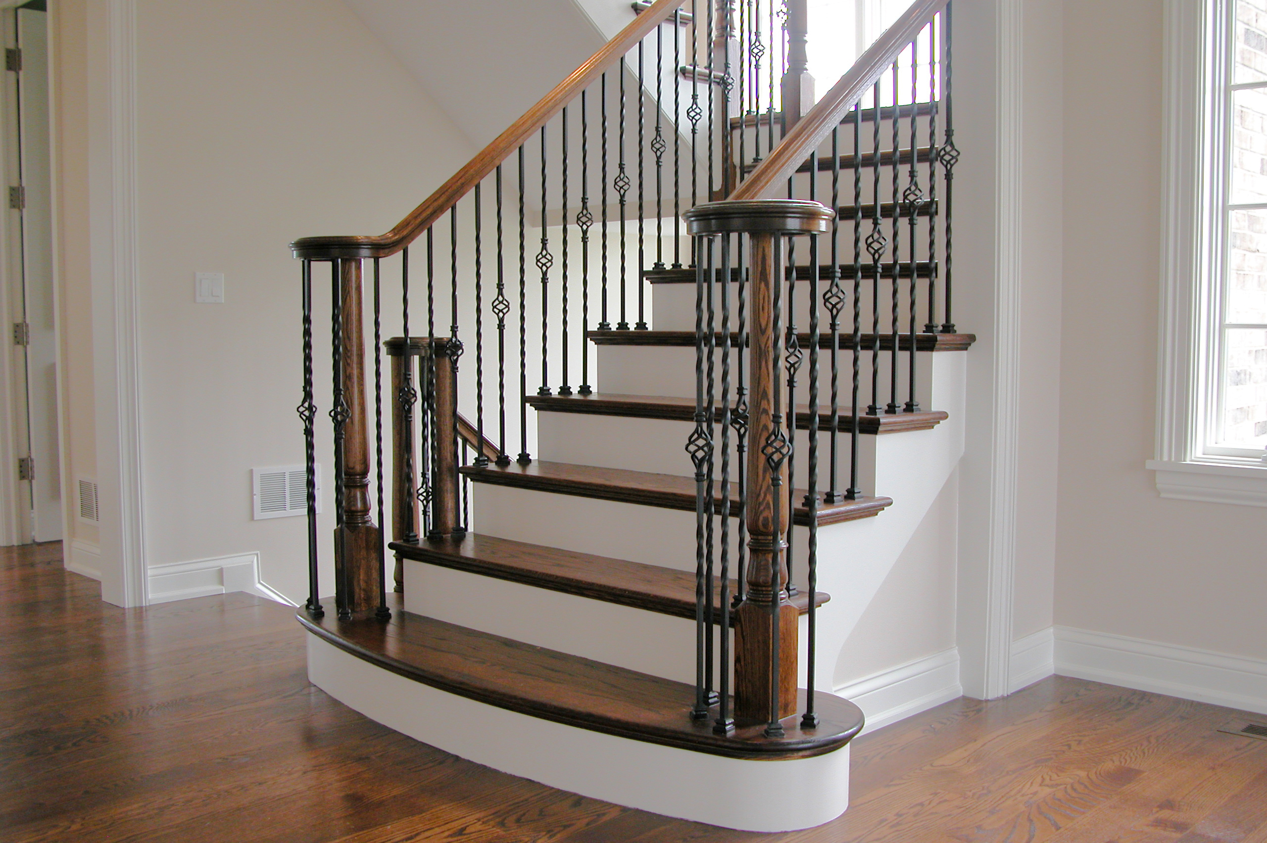 Long Twist Balusters Baskets House Of Forgings Stair