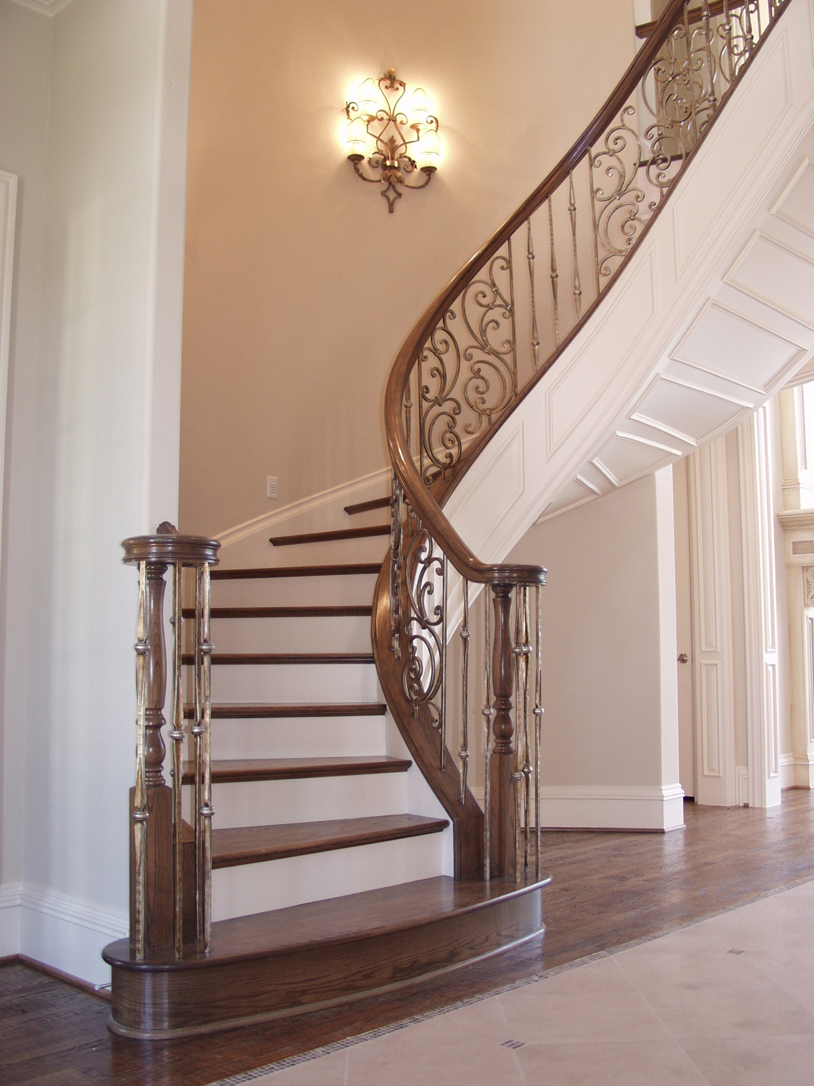 Paneled Staircase Spiral Panels And Gothic Series Balusters House Of