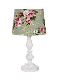 Shabby Chic Alice table lamp - sage green - House of Fraser