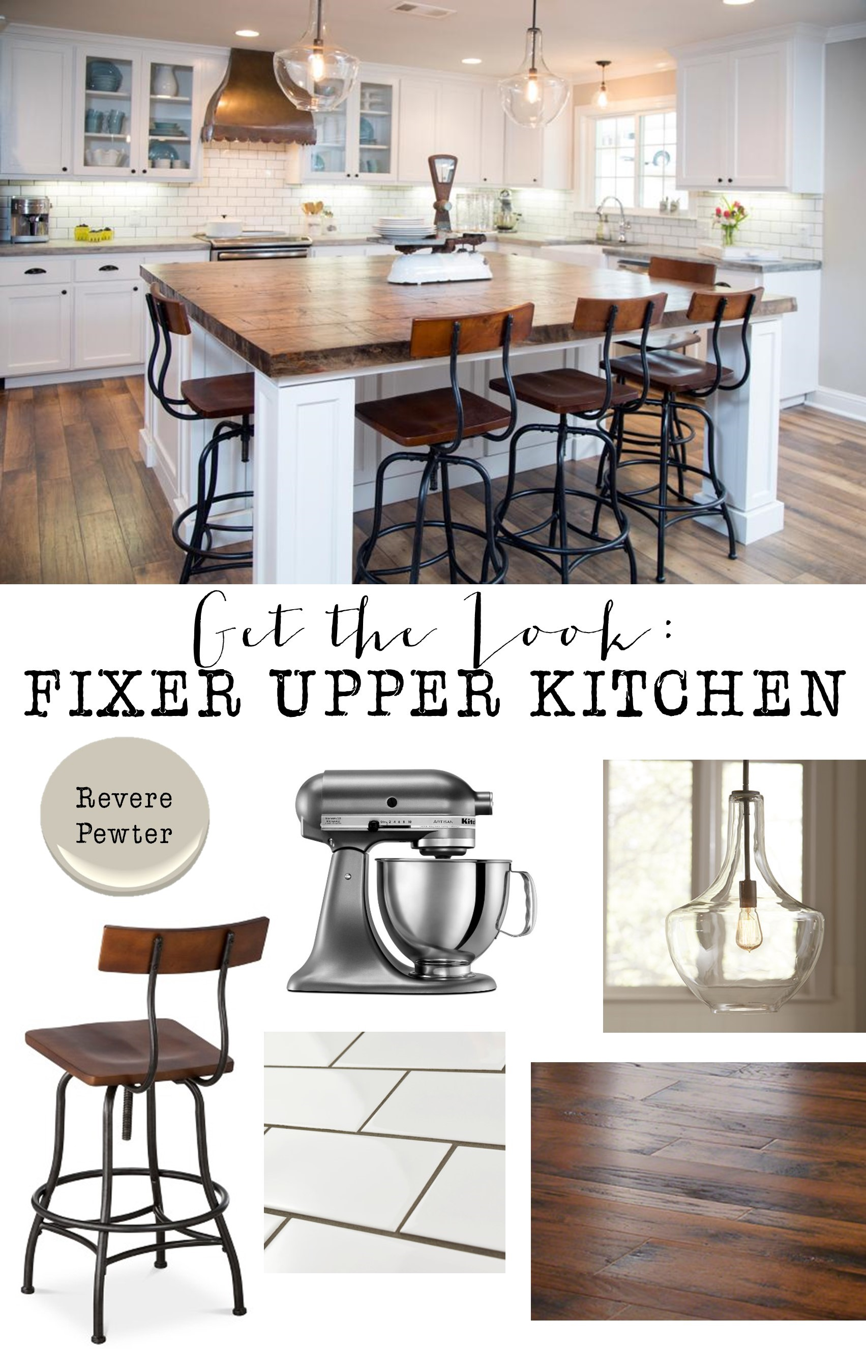 Joanna Gaines Farmhouse Bar Stools Get The Look Fixer Upper Kitchen House Of Hargrove