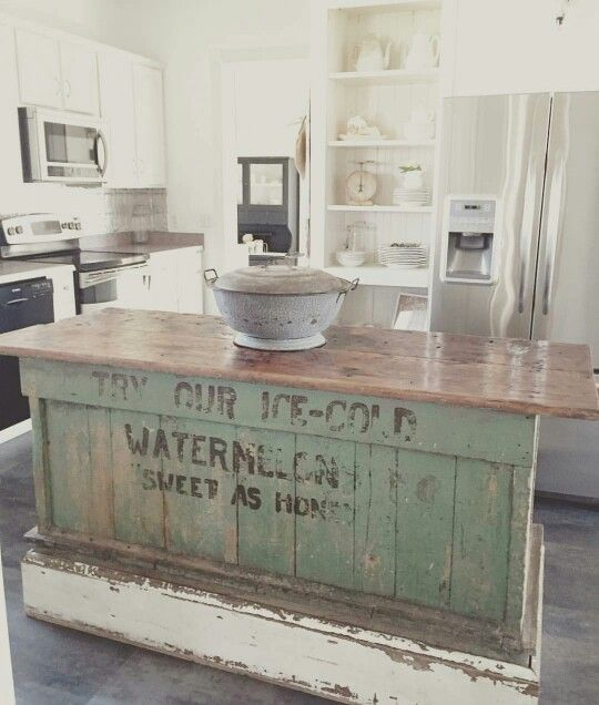 Antique Kitchen Islands Vintage Farmhouse Kitchen Islands: Antique Bakery Counter