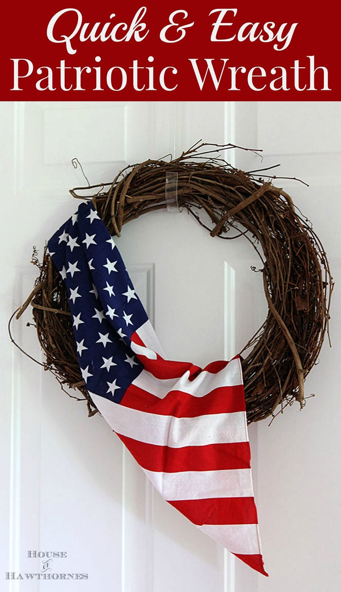 Quick And Easy 4th Of July Wreath House Of Hawthornes