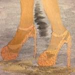 +Golden bronze shoes
